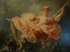 Detail from the real painting 'the Swing' from Fragonard at the Wallace Collection London