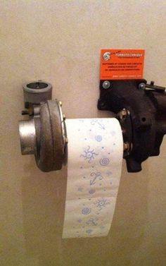 DIY bodge jobs, Steampunk loo roll holder