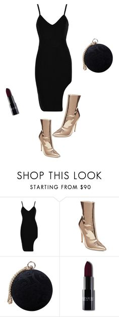 """Golden boots"" by thelittleblackconverse ❤ liked on Polyvore featuring Steve Madden, Carvela, party, PartyHard, blackdress and goldenboots"