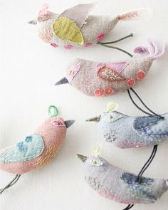 Cutest textile birdies