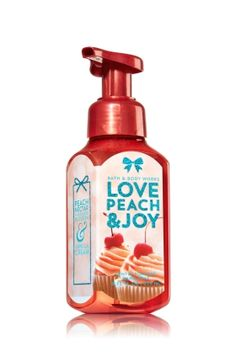 Love Peach & Joy - Gentle Foaming Hand Soap - Bath & Body Works - Our Gentle Foaming Hand Soap delivers a cloud of luxurious foam that transforms into a rich, creamy lather to gently wash away dirt and germs, while soothing Aloe and nourishing Vitamin E leave hands feeling soft, smooth and lightly scented!