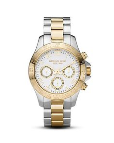 Michael Michael Kors Two-Tone Watch, 38mm | Bloomingdale's