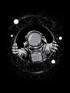 Black Hole is an astronaut shirt dsigned by digitalorgasm - Alien Photos Space Wallpaper, Dark Wallpaper, Galaxy Wallpaper, Stussy Wallpaper, Wallpaper Wallpapers, Iphone Wallpaper, Astronaut Drawing, Astronaut Tattoo, Space Illustration