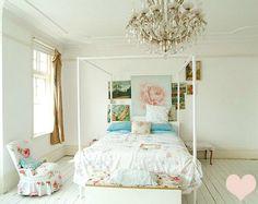 Very soft... girly... shabby chic romantic.  Curbly White Flooring