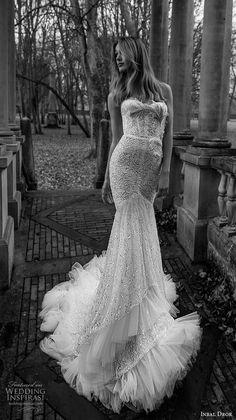inba dror fall 2018 bridal strapless sweetheart neckline full embellishment elegant mermaid wedding dress chapel train (8) mv