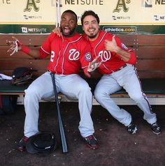 Denard Span and Anthony Rendon. What a great pix!!! Both smiling as usual...don't ya love our guys!