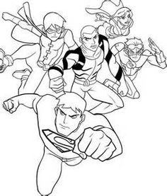 Justice Robin Coloring Pages Young