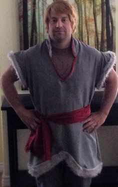 Mens Frozen Kristoff costume vest and sash only by QueenFrance