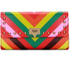 Yoins Bold Stripe Studded Foldover Leather-look Clutch Bag (327.825 IDR) ❤ liked on Polyvore featuring bags, handbags, clutches, yoins, black, fold over crossbody, faux leather purses, crossbody handbags, studded clutches and studded purse