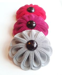 Felt Flower Corsage in Red Pink or Grey by madebylolly on Etsy,+£12.99