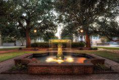 The fountain in Columbia Square, Savannah Georgia