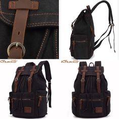 Teenage Waterproof Travel Laptop Backpack inch For Men and Women 2019 Vintage Backpacks, Waterproof Backpack, Laptop Backpack, 6 Inches, Messenger Bag, Satchel, Canvas, Handmade, Bags