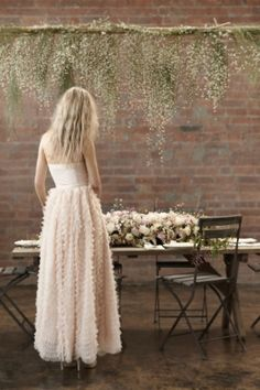 Could use willow branches weeping down....Blush Pink Romantic And Whimsical Bridal Shoot To Get You Inspired | Weddingomania