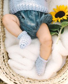 Mini Slumber Socks Knitting Kit for Baby