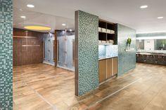 Equinox 225 Franklin St. Locker Room #boston #interiordesign #lockers #showers