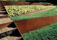 retenue terre de  jardin acier corten