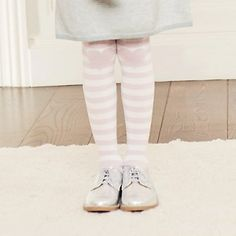 Stripe Heart Tights 1 pack | The White Company