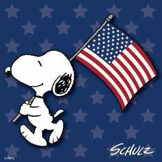Snoopy & American flag