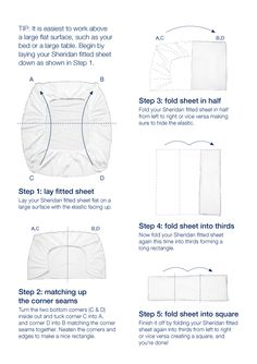 Easy guide for how to fold a fitted sheet. Under The Table and Dreaming: Ideas & Inspiration for Organizing and Putting Together a Linen Closet + how to fold a fitted sheet Linen Closet Organization, Organization Hacks, Organizar Closets, Folding Fitted Sheets, How To Fold Sheets, Fold Bed Sheets, Home Hacks, Getting Organized, Clean House