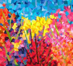 Florilegium II by Pat Kroth (Fiber Art)