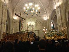 Foto hecha por Luis Llorens. Virgen del Mayor y Cristo de la Buena Muerte -Ciudad Real-. Tomada con el móvil