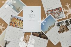 The back of each calendar page has a printed postcard back. Once the month passes, cut off the bottom of each page and you've got a postcard to keep as a piece of art or send to a friend!