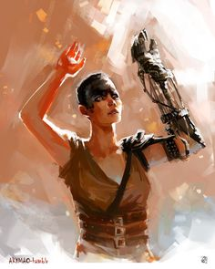 Furiosa from Mad Max ... corel painter x3 2h ... TUMBLR POST + WIP print REDBUBBLE SOCIETY6 ---