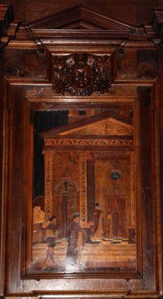 Fra Damiano Zambelli - tarsie del coro - 1510-20 circa - Chiesa dei Santi Bartolomeo e Stefano - Bergamo (Italia)