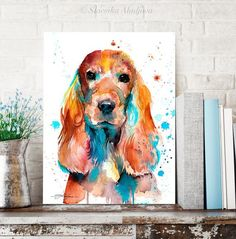 English Cocker Spaniel Watercolor Painting Print By Slaveika - English Cocker Spaniel Watercolor Painting Print By Slaveika Aladjova Art Animal Illustration Home Decor Nursery Wall Art Dog Art More Information Find This Pin And More On Water Color By Cai Animal Paintings, Animal Drawings, Painting Prints, Watercolor Paintings, Easy Watercolor, Cockerspaniel, Art Mural, Wall Art, English Cocker Spaniel