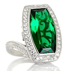 Victoria Wieck 20.97ct Absolute™ and Simulated Emerald Ring at HSN.com.