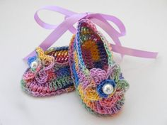 Infant Baby Girl Ballet flats slipper Booties by ItsyBitsyBabyToes, $12.00