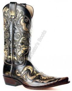 7490 Black Denver Tierra-Pitón Panizo   Bota cowboy Sendra Boots para hombre hecha en piel vacuno combinada con auténtica piel serpiente a la venta en Corbeto's Boots   Stylish and impressive combination of cow leather and genuine python skin cowboy boot.