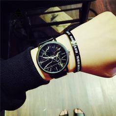 New Fabulous Women Men Punk Skull Analog Watch Leather Band Quartz Wrist Watch Relojes Mujer Women Watches O10 Watches