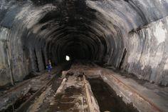 Tunel da Funicular apos Grota Funda-Paranapiacaba/Cubatão | Construída em 1901 e abandonada em 1981