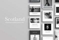 Scotland Social Media Pack by Ruben Stom on @creativemarket #socialmedia #socialmediamarketing #instagram