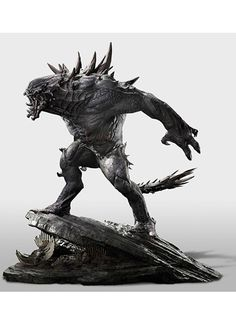 The Goliath is a beast that few have ever faced and lived to tell the tale. Display your monster hunting prowess with this scale model of the gargantuan terror. This statue is a limited edition, as only 500 will be produced worldwide. Sculpture Painting, Lion Sculpture, Sculptures, Evolve Monster, A Beast, Gamer Gifts, Creature Design, Mythical Creatures, Game Art