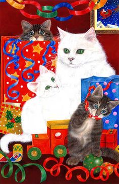 Cats in the Toys Art of Anne Mortimer