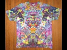 I show you my understanding of the tie dye process to make a mandala or star…