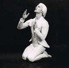 Mikhail Baryshnikov in Leonid Jacobson's ballet Vestris. Photographed by Martha Swope, Music by Genaidi Banschikov. First performed at the International Ballet Competition, Moscow, June, with Baryshnikov (aged Mikhail Baryshnikov, Male Ballet Dancers, Rudolf Nureyev, Russian Ballet, Statue, Tango, Moscow, Competition, Greece