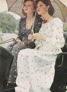 October 1972. 'Real romantics let long dresses set the mood.'