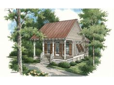 569 SF cottage style 1 bedroom + 1 bath