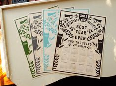 SUPER SALE!! maple veneer calendars!