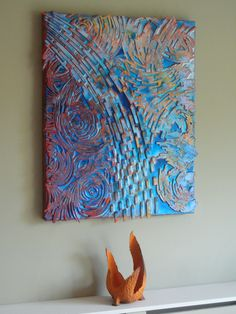 """Naranja y Azul"" Abstract Art by Paul Mason"