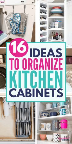 Looking for the best way to organize kitchen cabinets? These kitchen organization ideas will help you organize kitchen cabinet in just a few hours! Arm yourself with the best kitchen cabinet organizers to organize your kitchen cabinets! Kitchen Pantry Cabinets, Kitchen Drawer Organization, Diy Kitchen Storage, Organization Hacks, Cabinet Organizers, Organizing Ideas, Kitchen Hacks, Organising, Kitchen Ideas