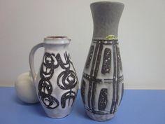 Duo: Zwei Keramikvasen von Jasba 60er 70er von Designclassics24