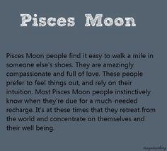 Pisces moon man in love