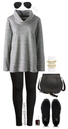 Plus Size Fall Errands Outfit - Alexa Webb - Plus Size Casual Outfit – Plus Size Fall Errands Outfit – Plus Size Fashion for Women – alexa - Plus Size Fashion For Women, Latest Fashion For Women, Plus Size Women, Womens Fashion, Ladies Fashion, Look Plus Size, Plus Size Casual, Plus Size Style, Plus Size Fall Outfit