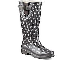 Sperry Top-Sider Pelican III Rain Boot in anchor print