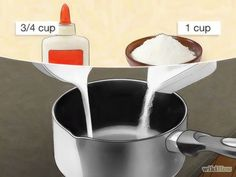 Image titled Make Homemade Polymer Clay Substitute Step 2 Más How to Make Homemade Polymer Clay Substitute. Are you tired of running to the craft store for expensive polymer clay? This wikiHow will show you how to make your own polymer clay substitute. Homemade Polymer Clay, Polymer Clay Recipe, Polymer Clay Art, Diy Clay, Homemade Resin Recipe, Clay Set, Clay Food, Paperclay, Polymer Clay Projects