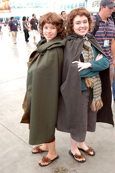 Oh my god! They used flipflops to make hobbit feet! HOW DID I NOT COME UP WITH THIS SOONER???